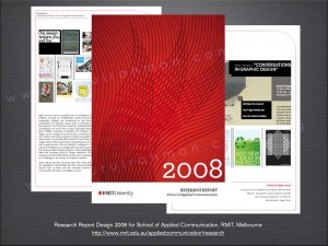 Research Report Design for School of Applied Communication (now Media and Communication) for end of year 2008