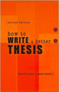 How to write a better thesis?
