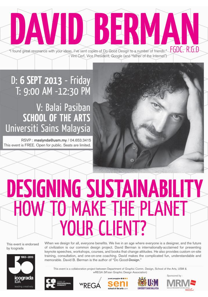 David Berman Talk USM Poster V1